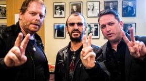 L to R: Barry Canning, Ringo, and me.